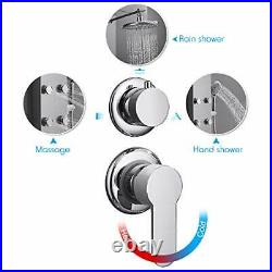 304 Stainless Steel Shower Panel Tower System 8-inch Rainfall Shower Head New