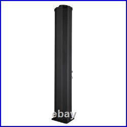 35L Black Thermostatic Shower Column Panel Column Tower Bathroom Shower Head Set