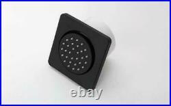 3pcs Black Massage Brass Shower Body Jet Rainfall Shower Column Faucet Wall In