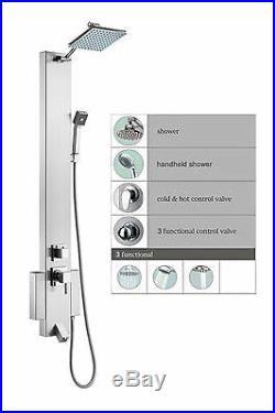 48 Stainless Steel Indoor Bathroom Bathing Shower Hot Water Heating Tower Panel