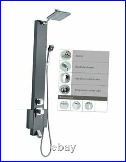 48 Stainless Steel SP824322 Shower Panel Tower with Rainfall Shower Head and