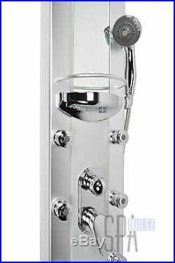 50 Aluminum Rainfall Hot Heating Water Shower Panel Column Tower For Bathroom
