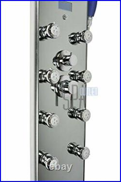 52 Aluminum SPA392M Shower Panel Tower with Rainfall Shower Head, 8 Multi