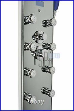 52 Aluminum SPA392M Shower Panel Tower with Rainfall Shower Head, 8 Multi-func