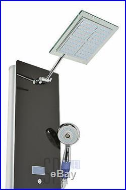 52 Alumunium Thermostatic Rainfall Shower Panel Column System 8 Massage Spa Jet