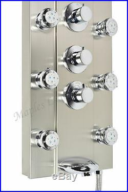 52 Modern Bathroom Hot Water Shower Bathing Panel Tower Column 8 Massager Jets