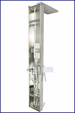 56 Thermostatic Shower Panel Tower Hot Bath Spa Jet Massage System Showerhead
