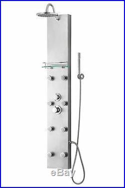57 Modern Thermostatic Hot Full Body Water Rainfall Shower Heating Panel Column