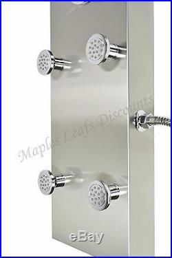 57 Stainless Hot Water Bathroom Bathing Shower Full Body Spray Column Panel