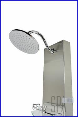 57 Thermostatic Stainless Steel Bathing Hot Water Shower Panel Column 8 Jets