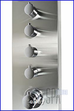 59 Modern Hot Shower Thermostatic Heating System Panel Column 4 Spa Massage Jet