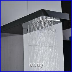 5-Function Shower Panel Tower Thermostatic Rain Shower Faucet Body Massage Jets