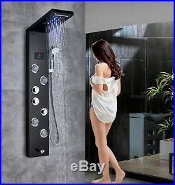 5 Way LED Massage Shower Panel Tower Jet Hand Shower Set Mixer Tap Faucet