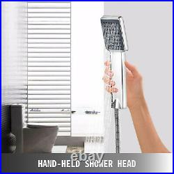 5 in1 Shower Panel Tower System Stainless Steel Adjustable Waterfall Reinforced