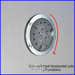 5 in 1 Massage Body Jets Shower Panel Column Tower Bathroom Twin Heads System UK