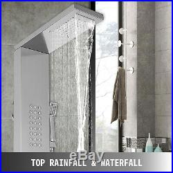 5 in 1 Shower Panel Tower Rain&Waterfall Massage Body System Jets Stainless