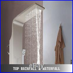 5 in 1 Stainless Steel Shower Panel Tower Waterfall Massage System Body Jets
