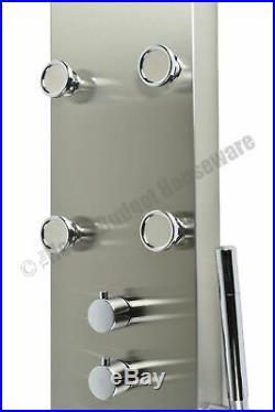 62 Rainfall Shower Head Panel Column Tower System Faucet Massage Jets Waterfall