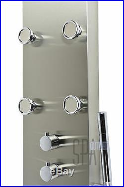 62 Thermostatic Bathroom Hot Water Shower Panel Column Tower Bathing Spa Jets