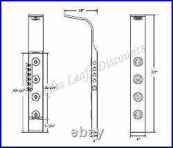 63 Thermostatic Stainless Steel Hot Shower Bathroom Water Panel Column Tower