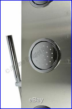 63 Thermostatic Stainless Steel Rainfall Shower Panel Tower Column Bathroom Use