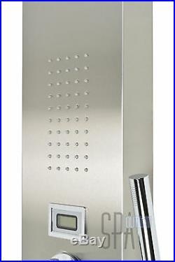 64 Modern Thermostatic Hot Shower Bathroom Bathing Panel Column Tower System