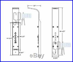 65 Stainless Steel Hot Shower Panel Column Tower System With Massager Jets