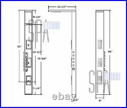 65 Thermostatic Heating Hot Shower Full Body Bathing Water Panel Column Tower