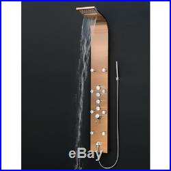 AKDY 8 Jet Shower Panel Tower System 65 Wand Stainless Steel Single Handle