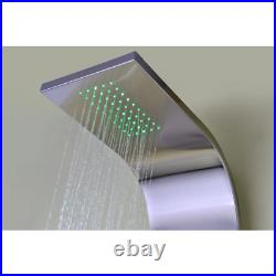 ANZZI Shower Panel 64 in. 2-Jetted Full Tower Arc LED Pull-out Sprayer 2-Handle
