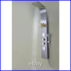 ANZZI Shower Panel Tower 2-Jetted 64 in. Spray Wand Brushed Stainless Steel