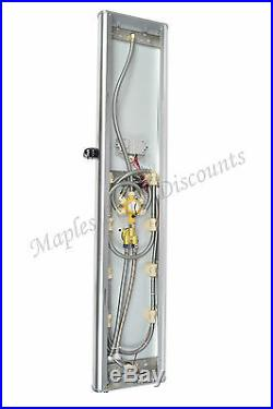 Aluminum Shower Panel Tower Rain Style Overhead Spout Hydrotherapy Massage Jets