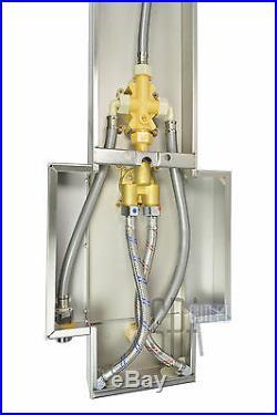 Basic Modern 48 Stainless Steel Rainfall Overhead Hot Shower Panel Column Tower