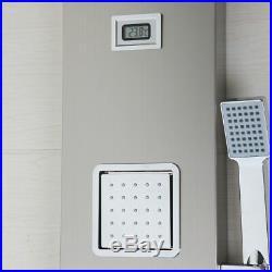 Bathroom Brush Nickel Massage Spray Jets Shower Panel Thermostati Column Faucet