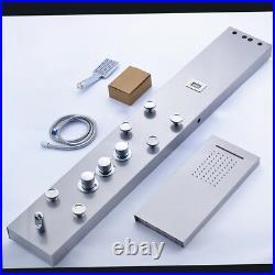 Bathroom Mixer Shower Column Dogital Screen Faucet Mixer Massage Jets Brass Taps