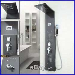 Bathroom Rainfall Shower Faucet Panel Massage System Sprayer Jets Shower Column