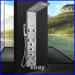 Bathroom Shower Panel Column Massage Jets Mixer Wall Mounted Shower Faucet Taps