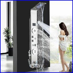 Bathroom Shower Panel Column Tower Massage Body Jets Waterfall Shower Head Spray