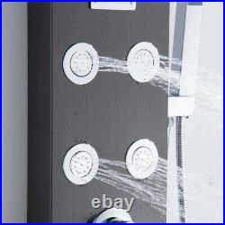 Bathroom Shower Panel Column Tower Mixer Taps with Body Jets Waterfall Rain System