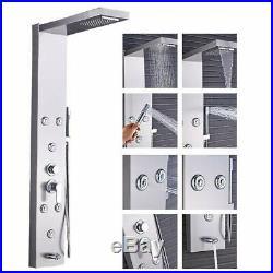 Bathroom Shower Panel Shower Tower Rainfall Waterfall Shower Head Massage Spray