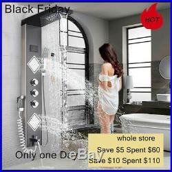 Bathroom Shower Tower System LED Shower Panel Column Bathtub Massage Body Jet