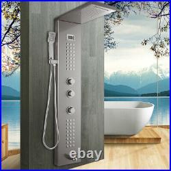 Bathroom Tub Rainfall Shower Column Massage Jets Sprayer Shower Panel Units