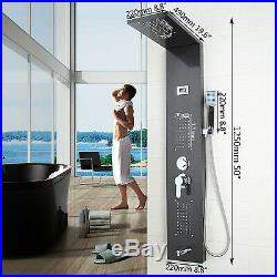 Bathroom numbers Shower Panel Screen Thermostatic Jets Faucet Set sprayer Column