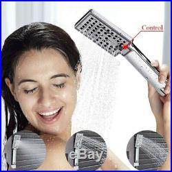 Bathtub Luxury Brushed Nickle Bathroom Shower Faucet LED Shower Panel Column