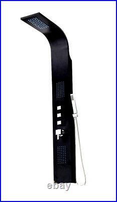 Black Design Shower Panel Made of Aluminium Shower Set Shower Column Rain Shower