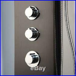 Black Digital Display Shower Panel Tower System Massage Body Jet Hand Shower Tap