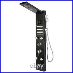 Black Friday LED Stainless Steel Rain Shower Panel Tower Faucet Massage System