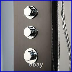 Black Rainfall Digital Display Massage Shower Panel Tower System Hand Shower Tap