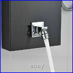 Black Rainfall Waterfall Combo Faucet Shower Panel Tower Massage System Body Jet