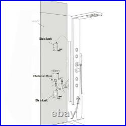 Black Shower Panel Column Tower Rain Waterfall with Body Jets Bathroom Mixer Taps